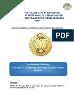 Guia Del Postulante Para El Proceso de Asimilación de Profesionales y Técnicos Como Oficiales y Suboficiales de La Fuerza Aerea Del Perú