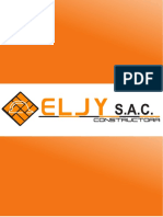 Brochure Constructora Eljy S.A.C. 2017