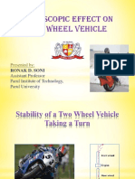 Gyroscopic Effect Two Wheeler