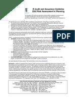 2202 Risk Assessment in Planning