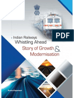 Indian Railways Whistling Ahead- Story of Growth and Modernisation-Booklet