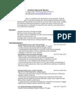 christian szymaszek step resume