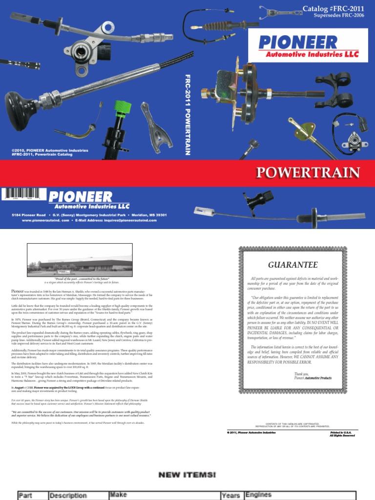 Pioneer CA8463 Accelerator Cable