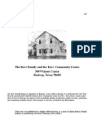 History of the Kerr Family and the Kerr Community Center in Bastrop, Texas