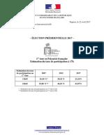 2017-04-22 Taux de Participation en Polynésie Française - 17h