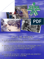 Ruta de Acceso y Oferta Institucional Psd