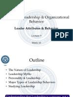 HRM 535 - Leadership Organizational Behavior