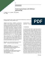 Measurement of Nutrients in Green House Soil With Laser Induced Breakdown Spectroscopy