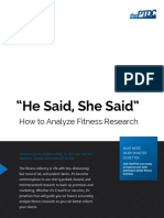 PTDC Analyze Fitness Research