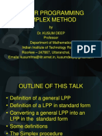 LP 5 Simplex Method