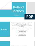 Roland Barthes Narrative Theory