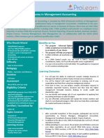 Product Note- CIMA Advanced Diploma in Management Accounting - Web ILT v1