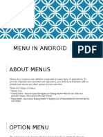 Android Menu
