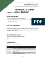 AspenProcessExplorer V73 CP5 Notes