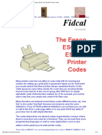 Epson ESC_P and ESC_P2 Printer Codes