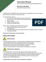 ComfyMed CM-102M Manual