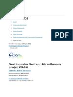 Gestionnaire Projet Microfinance