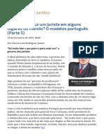 ConJur - Como Se Produz Um Jurista_ O Modelos Português (Parte 5)