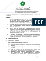 Extracts Of Disciplinary Procedures And Code Of Conduct For The Website