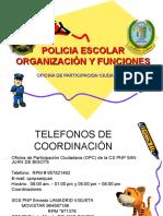 Policia Escolar Organizacion y Funciones