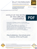 Impact of the destruction of the library of alexandria IN MODERN SCIENTIFIC RESEARCH