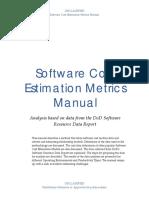 Software Cost Estimation Metrics Manual v15f