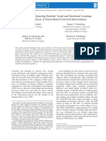 Durlak Et Al. (2011) Meta Analysis SEL