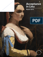 ARTS COUNCIL ENGLAND - Acceptance in Lieu - Report 2013 - Cultural Gifts Scheme
