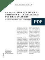 LE RAY, Sylvie - La Protection Des Trésors Nationaux Et La Circulation Des Biens Culturels