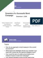 2009 CSBA Bond Presentation