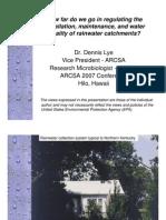 How far do we go in regulatin rainwater harvesting