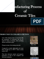 manufacturing process of ceramic   tiles  materials