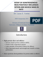 Leucine Influences Body Compostion and Muscle Mass