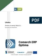 Comarch ERP Optima 2016.3.1 - Ulotka