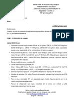 COT 6022 Oferta Planta Extrusora de Jabon USD
