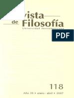 La Construccion Del Discurso Estetico. Heidegger y La Esencia de La Poesia. Rev. Fil. 118