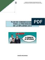 Plan de Comunicaciones Influenza 2014