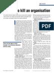 10 Ways to Kill an Organisation