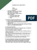 close reading lesson plan 3