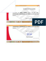 Certificado do curso Bradesco