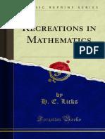 Recreations in Mathematics