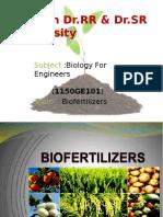 Biofertilizers Slide Share Ssk