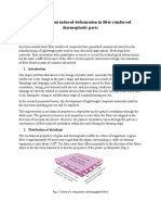 Fiber Alignment Induced Deformation in Fiber Reinforced Thermoplastic Parts