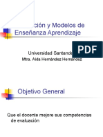 Evaluación y Modelos de E A