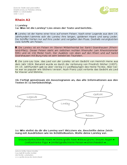 Rhein A2 Arbeitsblatt