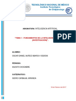 Unidad 1 Fundamentos de la Inteligencia Artificial (Investigación ) ITCH