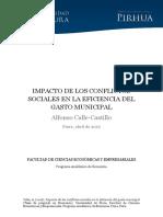 IMPACTO DE LOS CONFLICTOS SOCIALES EN LA EFICIENCIA DEL GASTO MUNICIPAL