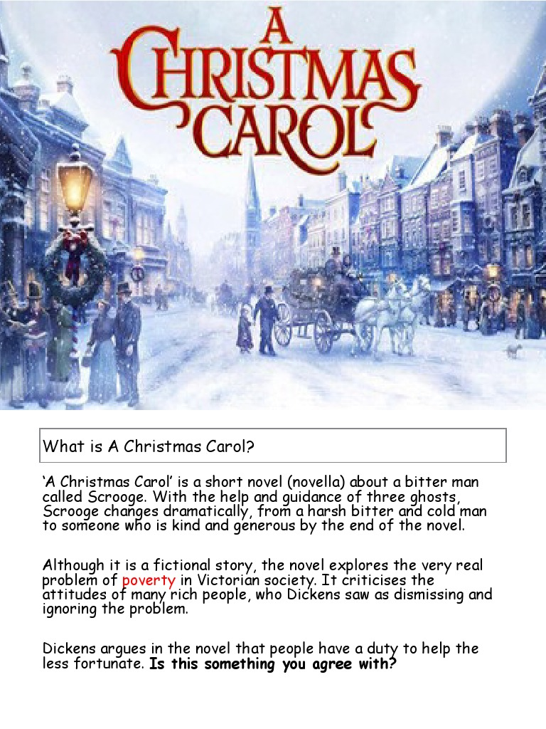 A Christmas Carol Workbook A Christmas Carol Tiny Tim A Christmas Carol