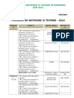 Program de Instruire Si Testare SSM - 2013