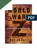 Conseguir Un Libro World War z by Max Brooks